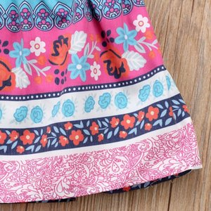 Toddler Baby Kid filles filles Boho robe d'été bow ruffles robes pour filles todd jlloql