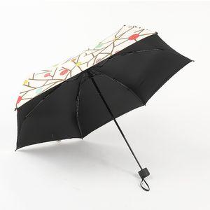 Tragbarer Regenschirm Kompakter Mini Sonnenschirm Drucktasche Schwarz Kleber Dual Zweck DIY Feste Farbe Frauen Regenschirme Heißer Verkauf 19 5MH K2
