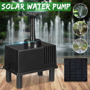 Solar Powered DC Fountain Water Pump Panel Kit for Pool Garden Pond Submersible Aquarium Airpump Watering with Filter Y200917