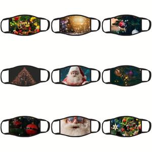 Silk Schlaf Klaus Sankt Auge Leopard Blindfold Drucken Reise Schlaf-Tool Augenmasken Er Shade Mask Augenpflege Weihnachtsmann Schlafen Großhandel # 43 Ogxx