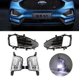 fog lights LED for edge 2020 2020 Headlight Led Fog Light Cover Grill Frame Grilles Lamp Hoods Driving Light Headlights
