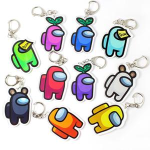 6cm Parmi les jeux de clés de Keychain américains à la chaîne clé pour les clés de voiture Décoration Accessoires Jouet Pendentif Périphérique Cadeau pour Boyfriends