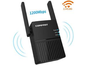 Extensor de alcance WiFi para uso doméstico, amplificador de faixa de sinal de 1200mbps Repetidor de Wi-Fi, 2.4G e 5G WIFI WiFi Router