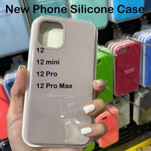 Первоначально качество ОЕМ Силиконовый чехол для iPhone 12 12mini 12pro 12pro максимум с пакетом для iPhone 12