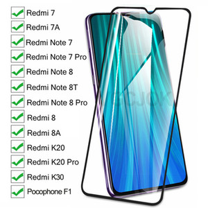 9D completa de proteção de vidro no Para Xiaomi redmi 8 7 7A 8A K20 K30 redmi Nota 8 T8 7 Pro Tela Pocophone F1 vidro temperado Film