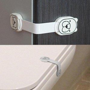 Cartoon Cabinet Locks sangles main antipincement porte Serrure de tiroir Buckle bébé tiroir réfrigérateur verrouillage enfant Protection des doigts QKli #