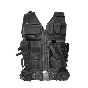 Tactical Vest Wargame Body Armor Sports Wear Molle Assault Paintball Carrier Strike Vest With Holster