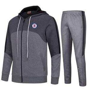 20-21 Cruz Azul Football Club Kinder athletische Männer Fußballjacke Sportbekleidung Sporttraining Outdoor Bekleidung Warm Up Suits