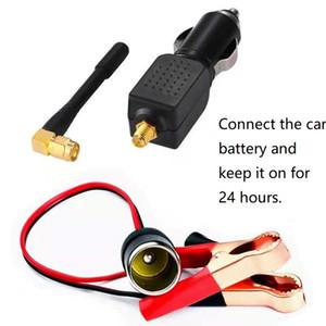 2W 12V alimentation voiture noire avec GPS Interférences Shield Connectez la voiture d'interface batterie en charge de l'électricité 24 heures