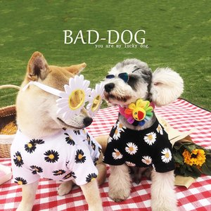 Printing Summer Pet Dog Clothes Puppy Tshirt Vest For Small Medium Dogs Little Daisies Cute Clothes French Bulldog Outdoor Costu LJ200923