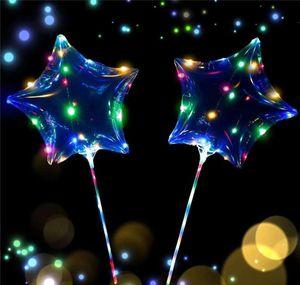 Led Love Heart Star Shape Balloon Luminous Bobo Balloons With String Lights 70cm Pole Night Light Balloon For Wedd jlltcp mx_home
