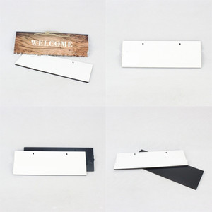 Densité de peinture en bois moderne FibreFoard DIY House Sign signe Plaque Sublimation Porte vierge Numéros d'adresse Mode 7 95bd g2