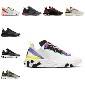 Vender 2019 Reagir Elemento 55 SECRETO Running Shoes Equipe Red Orbit Bred Posto de Colorblock épico Designer Sports SneakersColor correspondentes