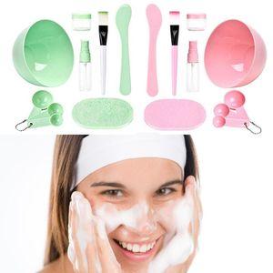 DIY Mask Tool Set Medium 9 In 1 Mask Bowl Spatula Brush Set Mixing Tool Sets Facial making kit