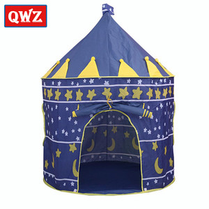 QWZ Toy Tent Kids Crawling Portable Foldable Tipi Princess Prince Castle Indoor Outdoor Toys Pool for Ocean Ball Play Game House LJ200923