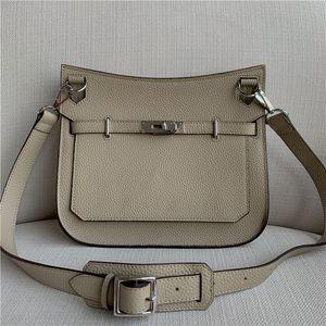 First layer cowhide gypsy bag twist lock bag One-shoulder messenger universal handbag Litchi stria European and American style Backpack
