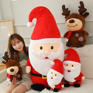New Hot Selling Christmas Gifts High Quality Plush Toys Santa Claus Elk Snowman Children's Stuffed Doll Toys Xmas New Year Holiday Present