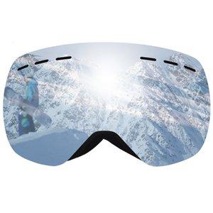 Ski UV400 Montanha Nevoeiro Óculos de Snowmobile Lens esqui da neve Máscara Óculos Capacete duplo Google Quadro Grande Snowboard anti-UV Epemg