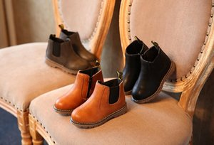 Autumn and winter children's shoes, short boots, leather boots, European and American children's boots