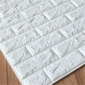 60X30cm 10pcs 3D Brick Wall Stickers Wallpaper Decor Foam Waterproof Wall Covering Wallpaper for Kids Living Room DIY Background 1007