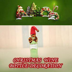 Wine Bottle Cap Christmas Beer Champagne Cover Hat Xmas Drinks Party Festival Decor Adornos De Navidad Christmas Hat Adornos yxlrGN