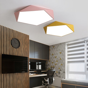 Dimmable LED Ceiling Lamps Design Creative Geometry luminaria Living Room Aisle balcony lampe plafond chambre Ceiling Lighting I474