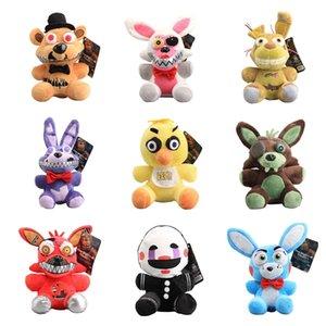 20cm 9pcs Lot Five Nights At Freddy FNAF Fox Bear Bonnie Plush Dolls Stuffed Animals Toy Wholesale