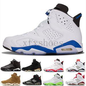 6 AJ6 Retro 6 Chaussures de basket-ball hommes CNY Black Cat Carmine Pantone Golden Harvest Slam dunk vert Suede Gatorade Oreo 6S Designer Sport Sneakers G54FA