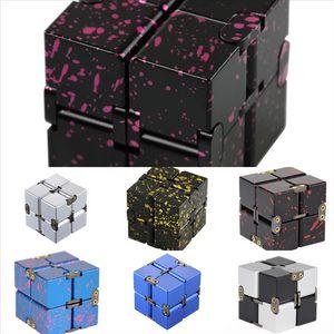 SA08H Cube Decompressione Alloga di alluminio in lega di rubik Starry Second Infinite Cube Cube Gear Rubik's Cube Generation Dice Gyro FidgetCube Rubik's