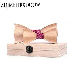 Parent-Child Bowtie Set Charming Kids Pets Wooden Butterfly Dinner Wedding Design Cute bow tie Accessory Corbatas Para Hombre 200924