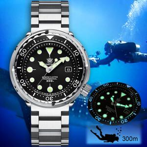 Steeldive 1975 Tuna meccanico 300m Diver Mens Nh35 automatico della vigilanza degli uomini dell'acciaio Dive orologi di lusso C3 Luminous