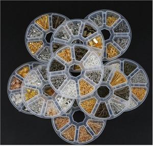 Schmuckherstellung Zubehör Boxen DIY-Ergebnisse Schmuckmaterial Perlen Kappen Ohrring Haken Jump Ring Claspe Pins Legierung Qylzmm