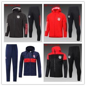 2010 2021 Bayern de Munique Hoodies Kits Jacket 2021 sportswear ternos James Muller Long Sleeve futebol Treino Mens Bayern capuz treinamento