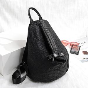 NOUVEAU Mode Sequins Cuir Sac à dos pour ordinateur portable Femmes Femme Personnalité Lock Anti Vol Bagpack Travel Mochila Feminina Back Pack C1223
