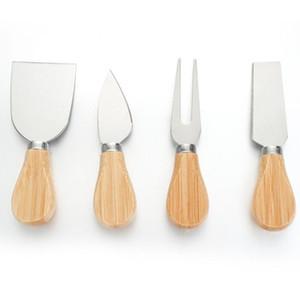 Cheese Knife Set Oak Handle Knife Fork Shovel Kit Graters Baking Cheese Pizza Slicer Cutter Set PPF2022
