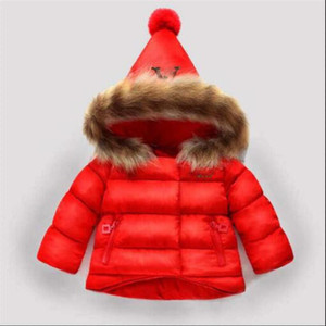 2020 Children's Outerwear Boy and Girl Winter Warm Hooded Coat Children Cotton-Padded Down Jacket Kid Jackets 1-6 Years