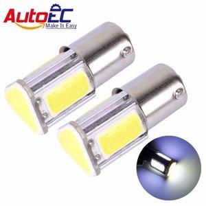 Autoec 2X 1156 G18 BA15S P21W 1157 Bay15D P21 / 5W 5W 4 COB 브레이크 라이트 LED 자동 자동차 전구 램프 12V # LF611