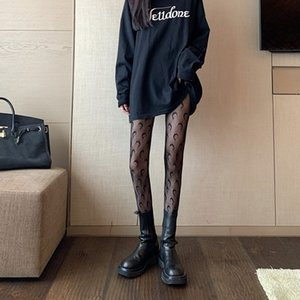 Old girls silk pantyhose fashion new big kids lace letter embroidery leggings Lolitas lace mesh hole princess tights women bottoms A4749
