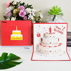 3d Pop Up Cards Birthday Card For Girl Kids Wife Husband Birthday Cake Greeting Card Postcards Gifts Card With Envelope Stickers jllvbz