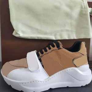 2021 High Quality Sneaker Casual Shoes Real Leather Sneakers Trainers Stripes Shoe Fashion Casual shoes Trainers For Man Woman Wish Box 03