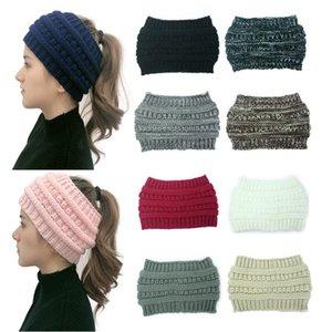 10 colores de punto crochet diadema mujeres invierno deportes hairband turban yoga cabeza de cabeza oreja muffs tapa diademas yya534
