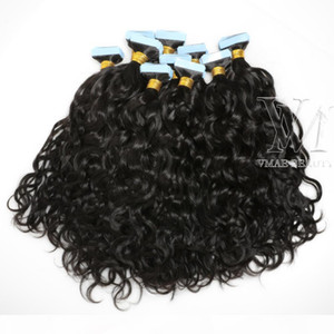 Remy 100g Afro Kinky Curly body water Deep wave straight 3B 3C 4B 4C Virgin Natural Tape In Human Hair Extension