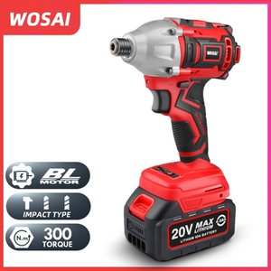 WOSAI 20V Electric Screwdriver battery 300NM Brushless Cordless Screwdriver Impact Drill Impact Driver Rechargeable Driver T200801