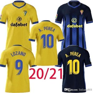 أعلى 2020 2021 كاديز لكرة القدم الفانيلة كاديز CF Camisetas de Futbol 20 21 Lozano Alex Bodiger Juan Cala Camiseta A Tiga Men Football Shirts