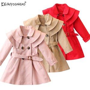 Autumn Windbreaker For Girls Coat Kids Jackets For Girls Outerwear Waterproof Raincoat Children Hooded Coats Girls Clothes Y200919