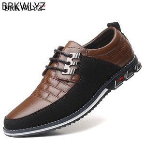 New Big Size 38-48 Oxfords Leather Men Shoes Fashion Casual Slip On Formal Business Wedding Dress Shoes Men Drop Shipping 201008