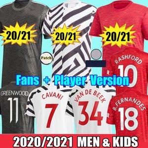 2021 Manchester Fans Player Rashford CAVANI Van De Beek Fernandes Greenwood united camisetas de fútbol camisetas de fútbol utd hombre niños kits uniformes