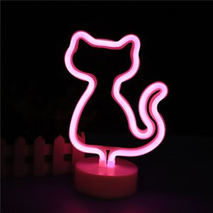 USB LED Neon Sign Light Holiday Flamingo Night Light Xmas Party Wedding Decoration Night Light Home Gift Unicorn Heart Neon Lamp USB LED Neo