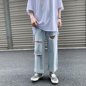 2020 Hombres de verano Homes Jeans Hombres sueltos Casual Pantalón Pantalones rectos S-2XL Tendencia MEGUST PANTES PANTALONES ROPA DE HOMBRE 2020 BAGGY JEANS1