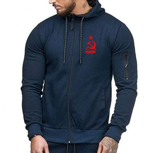Men Hoodies Unique CCCP Russian USSR Soviet Union Print Casual Hooded Mens Jacket Brand Sweatshirt Casual Fashion Tracksuits